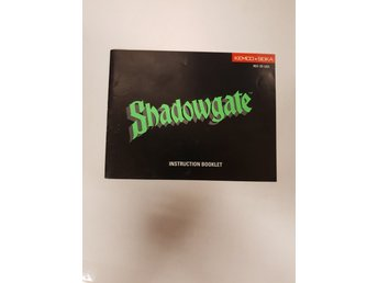 Shadowgate - Manual NES NINTENDO - USA