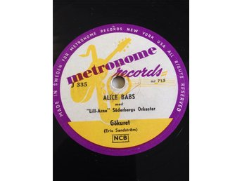 Alice Babs.  Metronome J 335.
