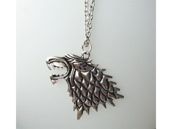 Game of Thrones Stark Direwolf kedja halsband hänge varg Winter is coming