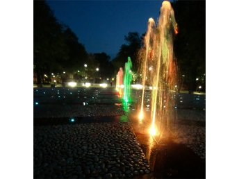 Fountains of Liepaja, digital photograph