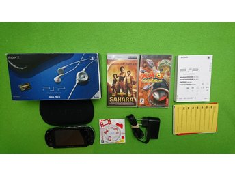 PSP Konsol i box med 1 spel & 1 film Playstation Portable basenhet