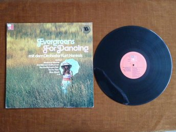 KURT HENKELS & ORCH.,  EVERGREENS FOR DANCING,  LP, LP-SKIVA