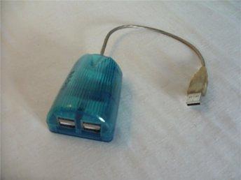 USB Hubb 4 portar transparant med inbyggd USB kabel - överkalix - USB Hubb 4 portar transparant med inbyggd USB kabel - överkalix
