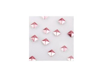 Charmsies Rose Gold Pyramid Studs