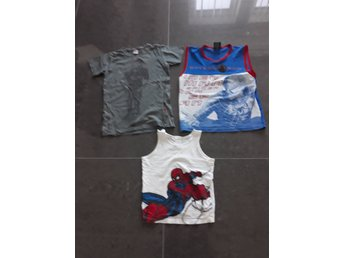 Paket 3 plagg grön name it t shirt t shirt, Spiderman tshirt linne 122 6-7 år