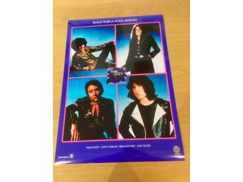 THIN LIZZY BLACK ROSE (A ROCK LEGEND) 1979 PHOTO POSTER