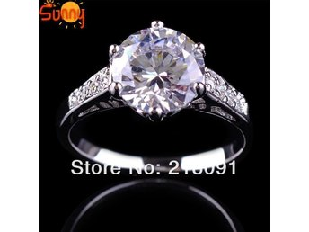 Jewelry White Sapphire Lady's 10KT White Gold 18k Filled Rings Jewelry Ring