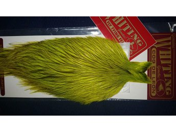 Helt Ny!  Whiting Coq De Leon  Badger Fl. Yellow Chartreuse