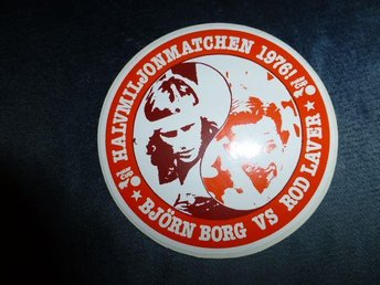 superrare decal björn borg vs rod laver 1976 halvmiljonmatch