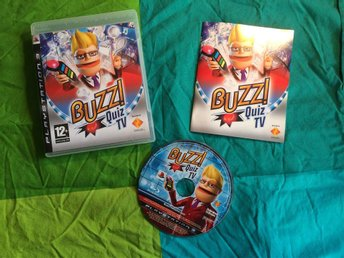 BUZZ QUIZ TV PS3 PLAYSTATION 3 SVENSKT TAL I SPELET