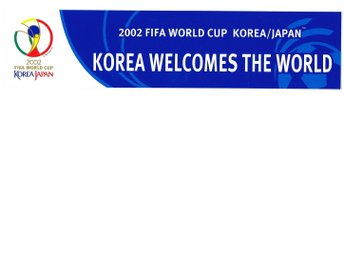 VM 2002: KOREA WELCOMES THE WORLD - 2002 FIFA World Cup Korea/Japan - dekal