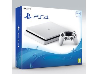 PS4 Basenhet 500GB slim Glacier white