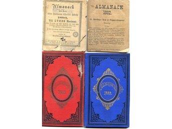 Javascript är inaktiverat. - Lenhovda - ______________________________________________________________Kvalitet denna auktion: 1882+1886 utan personliga anteckningar 1888-89 med pers. anteckningar. Bakre pärmen av 1889an skadadALLMÄNT OM DESSA ALMANACKOR: Kommer förmodligen från s - Lenhovda