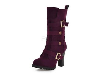 Dam Boots Heeled Squared Heels Fashion Boots Purple 40
