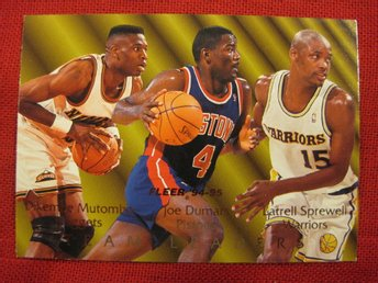 LATRELL SPREWELL, MUTOMBO, DUMARS - TEAM LEADERS - 94-95 FLEER  - BASKET