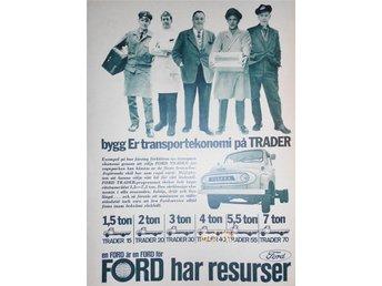FORD TRADER LASTBILAR, TIDNINGSANNONS Retro 1963 - öckerö - FORD TRADER LASTBILAR, TIDNINGSANNONS Retro 1963 - öckerö