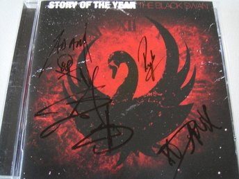 STORY OF THE YEAR Black swan CD SIGNERAD AUTOGRAFER