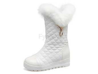 Dam Boots For Women Thick Plaform Wedges Botas white 40