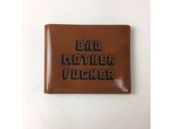 Plånbok, Strl: 11x9cm, Bad Mother Fucker, Brun, Skinnimitation
