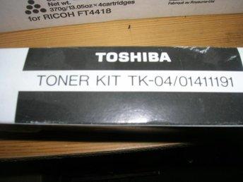 Toshiba TK-04 (TK-12) Black Laser Toner Kit - Enköping - Toshiba TK-04 (TK-12) Black Laser Toner Kit - Enköping