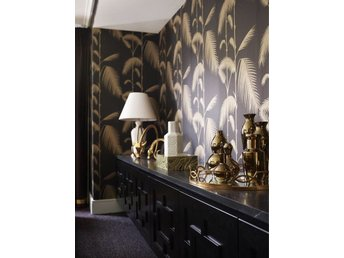 Tapet. Cole & Son - Palm leafs - Black / Gold