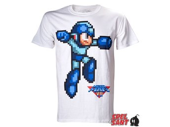 Capcom Mega Man T-Shirt Vit (Large)