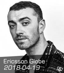 4 sittplatser *SAM SMITH* - Globen 19/4 2018