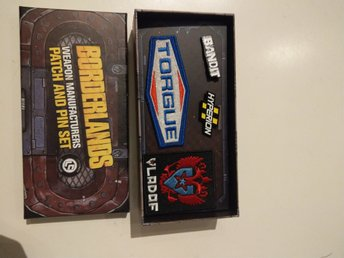 Borderlands, weapon manufacturers patch and pin set