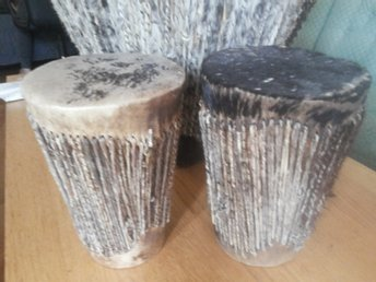 Vintage Hand made African Tribal Drums