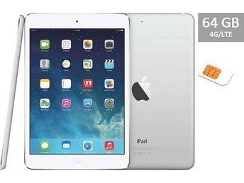 Apple iPad Air 64GB Wi-Fi + 4G, SIM, vit, white, RIMLIGT SKICK