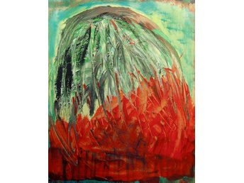 Abstrakt hand-made acrylic painting, on stretched canvas - 51 x 41 cm