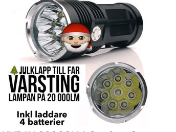 Ficklampa med 9 st CREE XML- T6 LED/ EXTREM