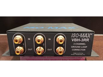 Jordisolator för video / Ground loop isolation trafo for video - ISO-MAX VBH-3RR