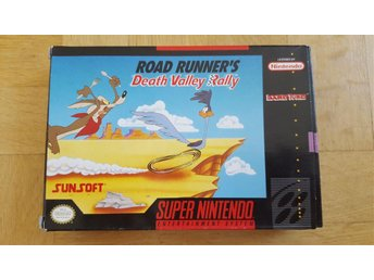 Road runner´s Death Valley rally till super Nintendo (SNES) USA import
