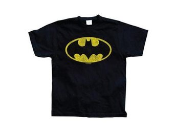 Batman T-shirt Distressed Logo Svart XL