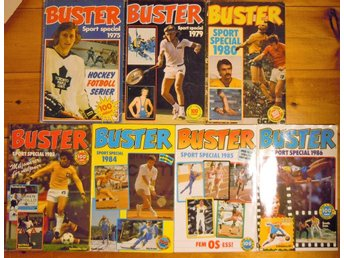 ** BUSTER sport special 1975 - 1986  ( 7 styck )