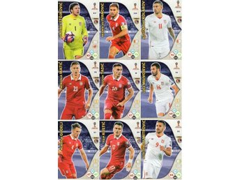 Panini Adrenalyn World Cup RUSSIA 2018 - SERBIEN - 9 x Team mates