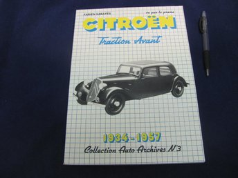 CITROEN Traction Avant 1934-1957