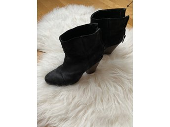 Rag and Bone svarta mocka boots med dragkedja b.. (397373215