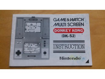 Donkey Kong, Game & Watch, Instruction. Instruktionsbok, manual, Nintendo