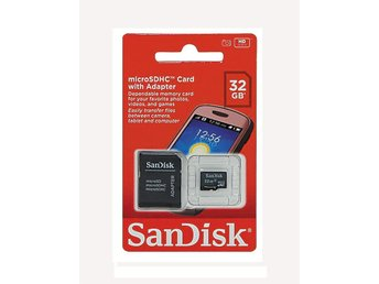 Sandisk 32GB minneskort micro SDHC, TF Flash Memory Card, inkl Adapter - Götene - Sandisk 32GB minneskort micro SDHC, TF Flash Memory Card, inkl Adapter - Götene