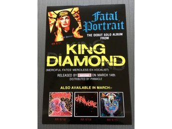 MERCYFUL FATE KING DIAMOND FATAL PORTRAIT 1986 PHOTO POSTER