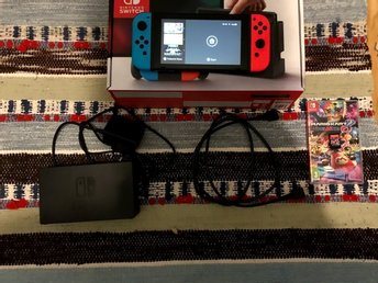 Nintendo switch med Mario kart 8