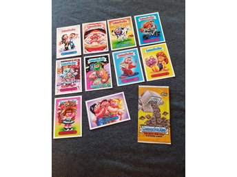 10 Garbage Pail Kids Stickers i nyskick inklusive förpackning - 2018 Hate 80's -