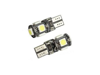 2-pack T10 W5W 5st 5050 SMD dioder Canbus - xenonvit