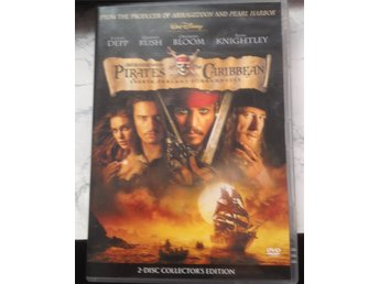 DVD: PIRATES of the CARIBBEAN med Johnny Depp 2 disc.