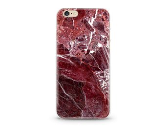 Marbelous Marble Red Amarant - Mobilskal iPhone iPhone 7/8 Plus