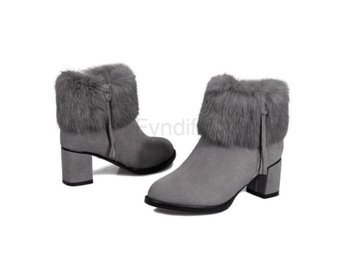 Dam Boots Square High Heel Botas Women Shoes Gray 40