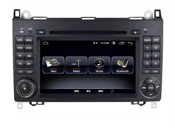 "Mercedes Benz Sprinter Vito Bluetooth bilstereo android 8.0 7"" touch, svart NY"