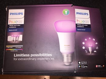 Philips Hue White And Color Ambiance LED Lamp 10W E27 3 Pack Starter Kit